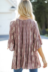 Tiered Blouse Back View