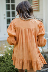 Tunic Blouse in Camel Back View
