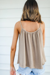 Tank in Taupe Back View