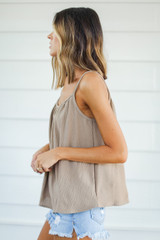 Tank in Taupe Side View
