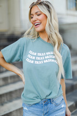 Sage - Wavy Yeah That Greenville Tee from Dress Up