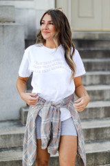 White - Wavy Yeah That Greenville Tee from Dress Up