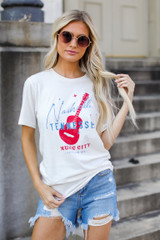 Dress Up model wearing the Nashville Tennessee Music City Tee