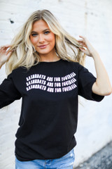 Model wearing the Saturdays Are For Football Tee