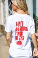 White - Ain't Nothing Finer Pocket Tee from Dress Up