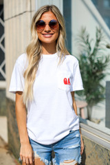 Model wearing the Ain't Nothing Finer Pocket Tee