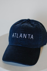 Navy - Flat Lay of the Atlanta Embroidered Hat