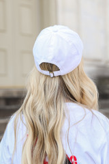 Atlanta Embroidered Hat in White Back View