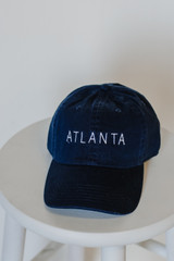 Atlanta Embroidered Hat in Navy