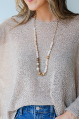 Natural - Beaded Necklace