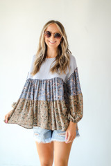 Denim - Tiered Floral Top from Dress Up
