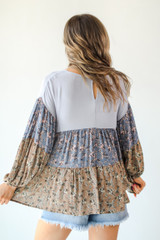 Tiered Floral Top Back View