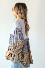 Tiered Floral Top Side View