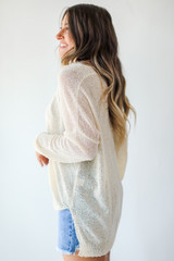 Loose Knit Sweater in Natural Side View