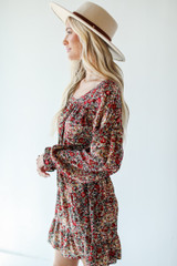 Floral Dress Side View