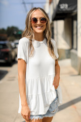 White - Tiered Top
