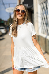 White - Tiered Top from Dress Up