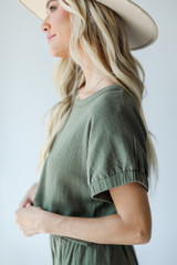 Olive - Linen Top from Dress Up