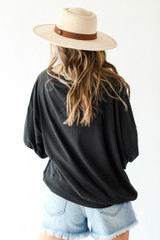 Oversized Waffle Knit Pullover Back View