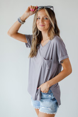 Mocha - Everyday Jersey Tee Front View