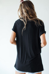 Everyday Jersey Tee in Black Back View