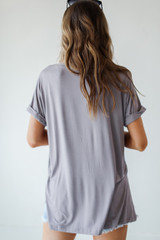 Everyday Jersey Tee in Mocha Back View