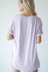 Everyday Jersey Tee in Lavender Back View