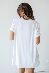 Everyday Jersey Tee in White Back View