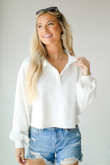 White - Collared Pullover from Dress Up