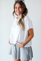 White - Dress Up model wearing a Cropped Tee