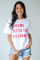 Take Me Out To The Ballgame Tee Front View