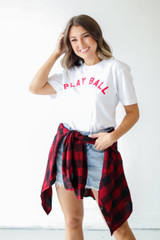 Dress Up model wearing the Play Ball Tee