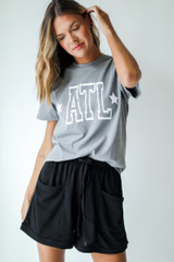 Grey - ATL Star Graphic Tee from Dress Up