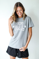 ATL Star Graphic Tee Front View on model
