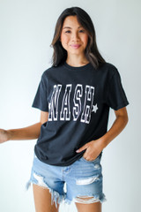 Black - Dress Up model wearing the Nash Star Graphic Tee
