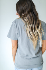 Nash Star Graphic Tee in Grey Back View