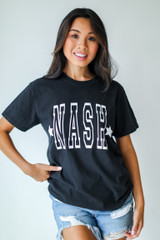 Nash Star Graphic Tee in Black Front View