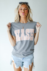 Grey - Nash Graphic Tee from Dress Up