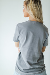 Nash Graphic Tee in Grey Back View