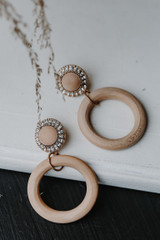 Natural - Statement Drop Earrings from Dress Up
