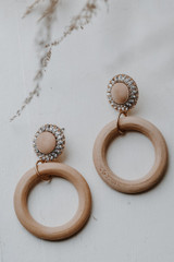 Flat Lay of Natural Statement Drop Earrings