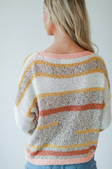 Ivory - Striped Sweater Back View