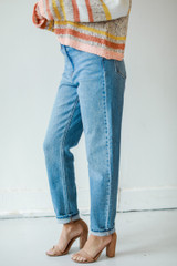 High-Rise Mom Jeans Side View
