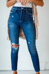 Dark Wash - Distressed Skinny Jeans from Dress Up