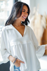 White - Babydoll Blouse from Dress Up