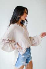 Ruched Sleeve Blouse Side View