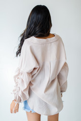 Ruched Sleeve Blouse Back View