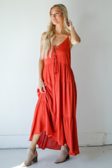 Model wearing a Tiered Maxi Dress