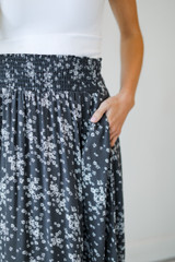 Close Up of a Floral Maxi Skirt