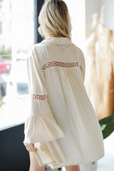 Tunic Blouse in Ivory Back View